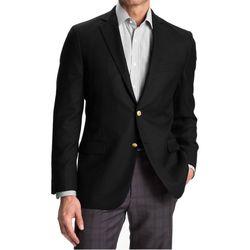 Vêtements Homme Vestes de costume Kebello Blazer 2 boutons Taille : H Noir 46 Noir