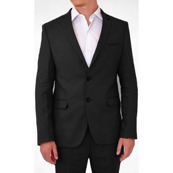 Vêtements Homme Vestes de costume Kebello Veste en lin Taille : H Noir 46 Noir