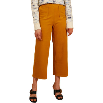 Vêtements Femme Chinos / Carrots Frnch Pantalon coupe large taille haute PEG Moutarde