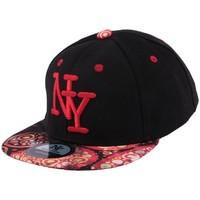 Accessoires textile Homme Casquettes Hip Hop Honour Casquette Enfant NY noire et rouge jusqu'a 7ans Noir