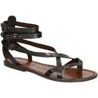 Chaussures Femme Sandales et Nu-pieds Gianluca - L'artigiano Del Cuoio 564 D MORO CUOIO Testa di Moro