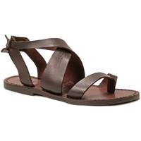 Chaussures Femme Sandales et Nu-pieds Gianluca - L'artigiano Del Cuoio 571 D MORO CUOIO Testa di Moro