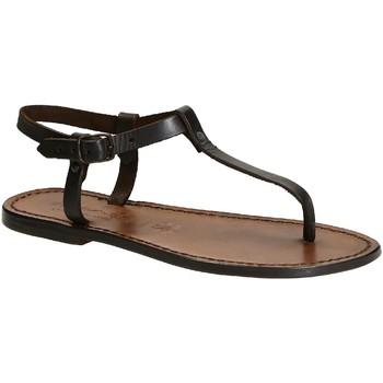 Chaussures Femme Sandales et Nu-pieds Gianluca - L'artigiano Del Cuoio 532 D MORO CUOIO Testa di Moro