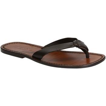 Chaussures Homme Tongs Gianluca - L'artigiano Del Cuoio 580 U MORO CUOIO Testa di Moro