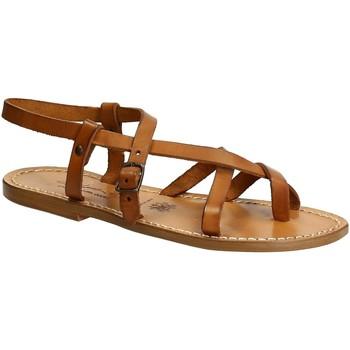 Chaussures Femme Sandales et Nu-pieds Gianluca - L'artigiano Del Cuoio 530 D CUOIO CUOIO Cuoio
