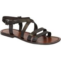 Chaussures Homme Sandales et Nu-pieds Gianluca - L'artigiano Del Cuoio 531 U MORO CUOIO Testa di Moro