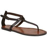 Chaussures Femme Sandales et Nu-pieds Gianluca - L'artigiano Del Cuoio 582 D MORO CUOIO Testa di Moro