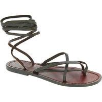 Chaussures Femme Sandales et Nu-pieds Gianluca - L'artigiano Del Cuoio 514 D MORO CUOIO Testa di Moro