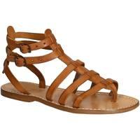 Chaussures Femme Sandales et Nu-pieds Gianluca - L'artigiano Del Cuoio 506 D CUOIO CUOIO Cuoio