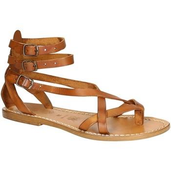 Chaussures Femme Sandales et Nu-pieds Gianluca - L'artigiano Del Cuoio 564 D CUOIO CUOIO Cuoio