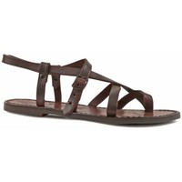 Chaussures Femme Sandales et Nu-pieds Gianluca - L'artigiano Del Cuoio 530 D MORO CUOIO Testa di Moro