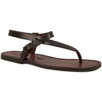 Chaussures Homme Sandales et Nu-pieds Gianluca - L'artigiano Del Cuoio 592 U MORO CUOIO Testa di Moro