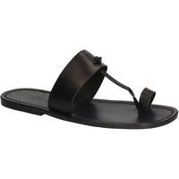 Chaussures Homme Tongs Gianluca - L'artigiano Del Cuoio 554 U NERO CUOIO nero
