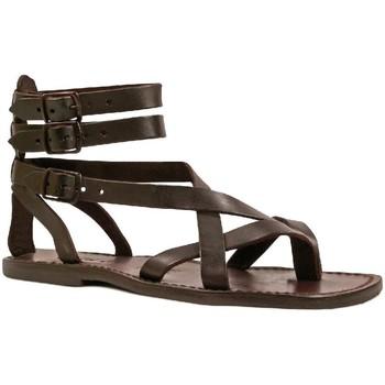 Chaussures Homme Sandales et Nu-pieds Gianluca - L'artigiano Del Cuoio 564 U MORO CUOIO Testa di Moro