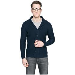 Vêtements Homme Gilets / Cardigans Guess Cardigan Homme Bleu Marine