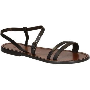 Chaussures Femme Sandales et Nu-pieds Gianluca - L'artigiano Del Cuoio 591 D MORO CUOIO Testa di Moro
