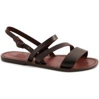 Chaussures Femme Sandales et Nu-pieds Gianluca - L'artigiano Del Cuoio 598 D MORO CUOIO Testa di Moro