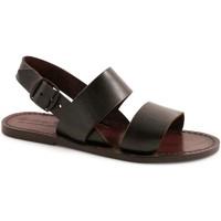 Chaussures Femme Sandales et Nu-pieds Gianluca - L'artigiano Del Cuoio 500X D MORO CUOIO Testa di Moro