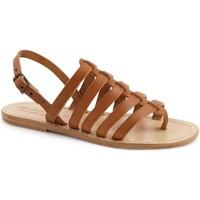 Chaussures Femme Sandales et Nu-pieds Gianluca - L'artigiano Del Cuoio 576 D CUOIO LGT-CUOIO Cuoio