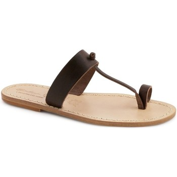 Chaussures Femme Mules Gianluca - L'artigiano Del Cuoio 554 U MORO LGT-CUOIO Testa di Moro