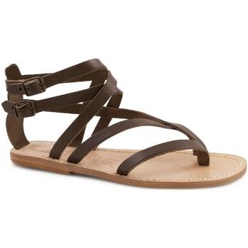 Chaussures Femme Sandales et Nu-pieds Gianluca - L'artigiano Del Cuoio 574 D MORO LGT-CUOIO Testa di Moro