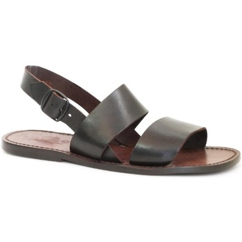 Chaussures Femme Sandales et Nu-pieds Gianluca - L'artigiano Del Cuoio 500X U MORO CUOIO Testa di Moro