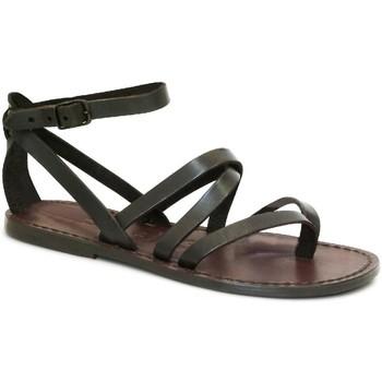 Chaussures Femme Sandales et Nu-pieds Gianluca - L'artigiano Del Cuoio 584 D MORO CUOIO Testa di Moro