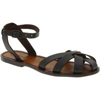 Chaussures Femme Sandales et Nu-pieds Gianluca - L'artigiano Del Cuoio 503 D MORO CUOIO Testa di Moro
