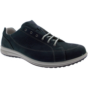 Chaussures Homme Baskets basses Loren  G0286 nubuck bleu forme d'art de grands lacets baskets blu