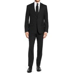 Vêtements Homme Costumes  Kebello Costume Fil à Fil H Noir Noir