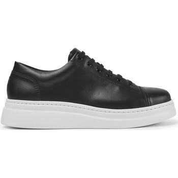 Chaussures Femme Baskets basses Camper Baskets à lacets cuir Runner Up noir