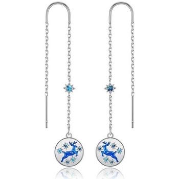 Montres & Bijoux Femme Boucles d'oreilles Blue Pearls CRY E394 J Bleu