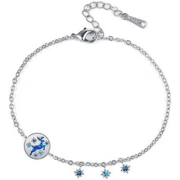 Montres & Bijoux Femme Bracelets Blue Pearls CRY E003 J Bleu