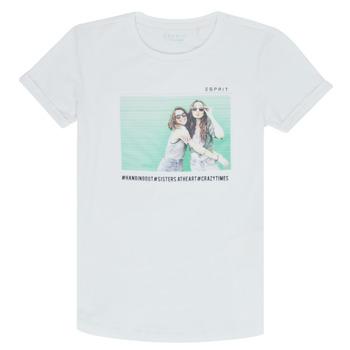Vêtements Fille T-shirts manches courtes Esprit ELISH Blanc