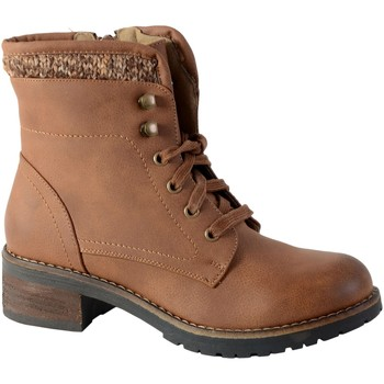 Chaussures Femme Bottines The Divine Factory Boots 1 Camel