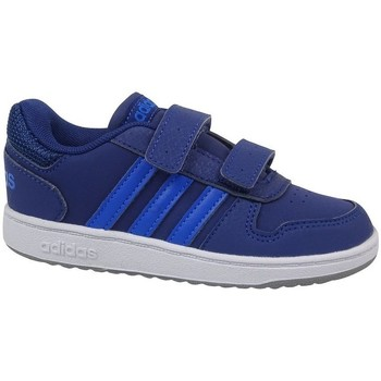 Chaussures Enfant Baskets basses adidas Originals Hoops 20 Cmf I Blanc,Bleu,Bleu marine