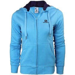 Vêtements Femme Sweats Salomon Logo Hoodie FZ W Bleu