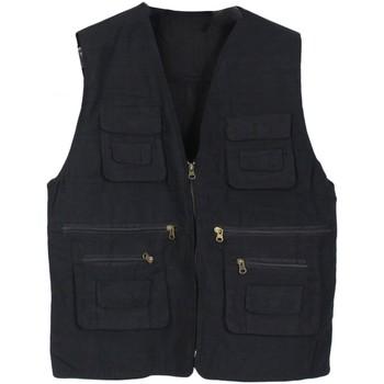 Vêtements Homme Utilisez au minimum 1 lettre majuscule Kebello Gilet de pêche Taille : H Noir M Noir