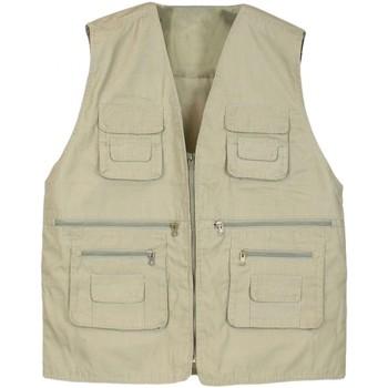 Vêtements Homme Gilets / Cardigans Kebello Gilet de pêche Taille : H Beige M Beige