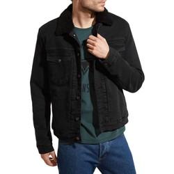 Vêtements Homme Vestes en jean Kebello Veste Sherpa en jeans H Noir Noir