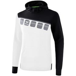 Vêtements Enfant Sweats Erima Sweat à capuche enfant  5-C blanc/noir/gris