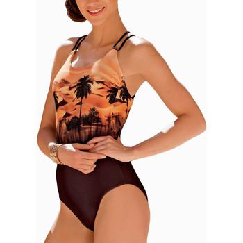 Vêtements Femme Maillots de bain 1 pièce Lisca Maillot de bain 1 pièce Copacabana orange Orange