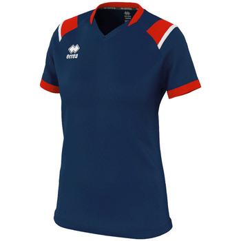 Vêtements Femme T-shirts manches courtes Errea Maillot femme  lenny bleu/marine/blanc