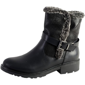 Chaussures Femme Bottines The Divine Factory Boot Fourrees Noir