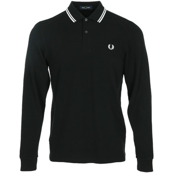 Vêtements Homme Polos manches longues Fred Perry LS Twin Tipped Shirt noir