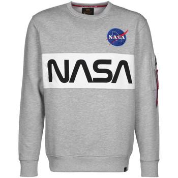 Vêtements Homme Sweats Alpha NASA Inlay Sweater gris