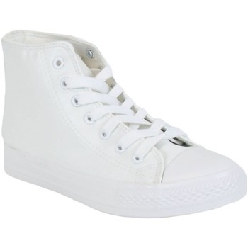 Chaussures Homme Baskets montantes Kebello Baskets montantes H Blanc Blanc