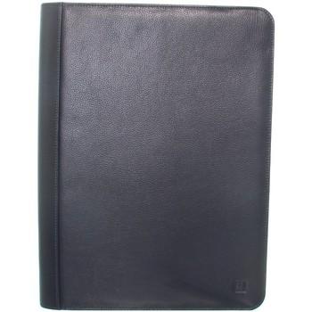 Sacs Porte-Documents / Serviettes Hexagona Conferencier  en cuir Ref 33928 Marine 27*36*4 Bleu