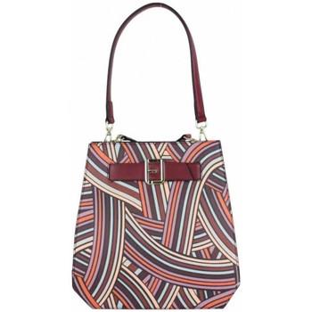Sacs Femme Sacs porté épaule Ted Lapidus Sac épaule  VT Foggia motif coloré Bordeaux rouge