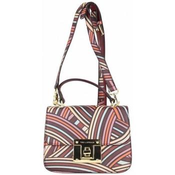 Sacs Femme Sacs Bandoulière Ted Lapidus Petit sac cartable  VT Foggia motif coloré Bordeaux rouge
